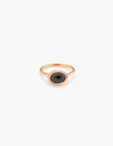 Rose Cut Black Diamond Ring - Dream Collective