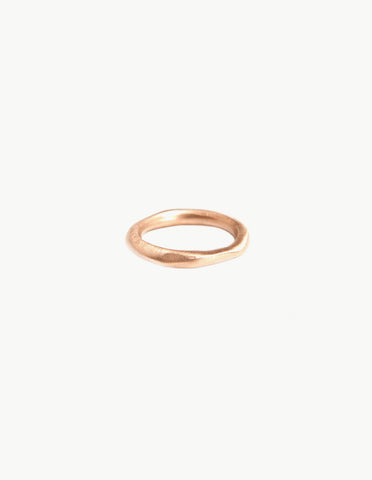 Organic Round Rose Gold Band