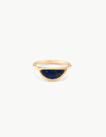Lapis Moonrise Ring