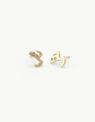 Moustache & Mask Studs with Diamonds