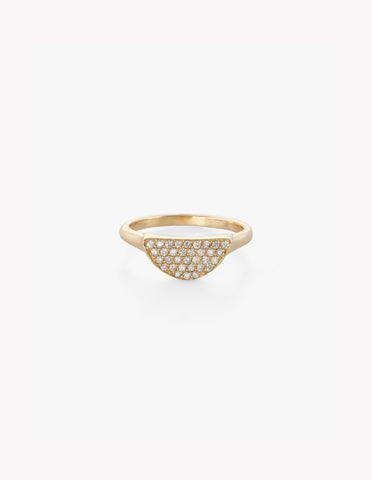 Diamond Pave Moonrise Ring