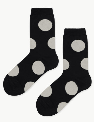 Rie Crew Sock in Black - Dream Collective