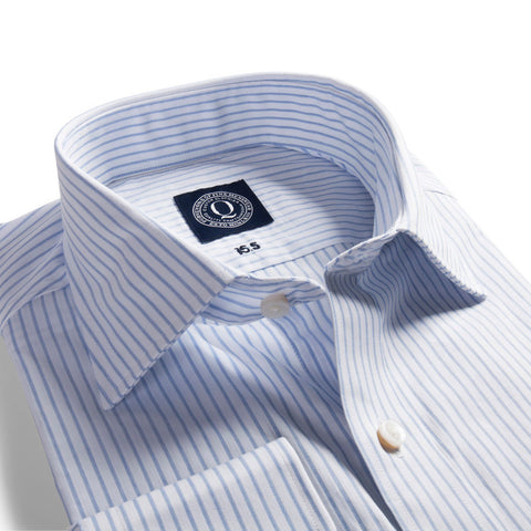 Q Clothier / The Austin - Blue Shadow Stripe / Q Clothier