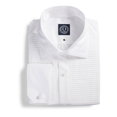 Q Clothier / The Sean - Horizontal Pleat Tuxedo Shirt / Q Clothier