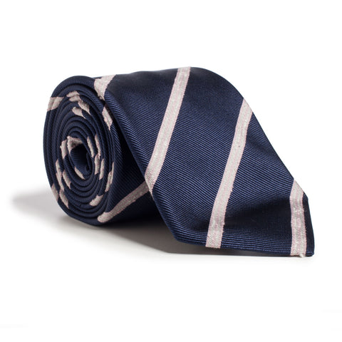 Q Clothier / Navy and Pink Stripe / Q Clothier