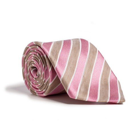 Q Clothier / Tan and Pink Stripe / Q Clothier