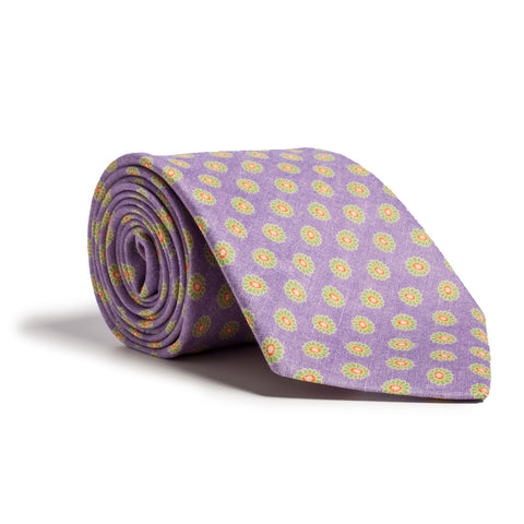 Q Clothier / Purple and Green Flower Print / Q Clothier