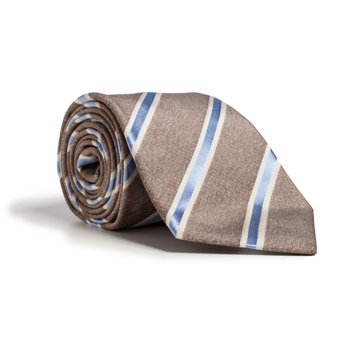 Q Clothier / Brown and Blue Stripe / Q Clothier