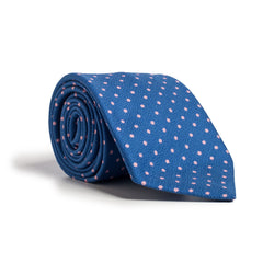 Q Clothier / Blue and Pink Dot Print / Q Clothier