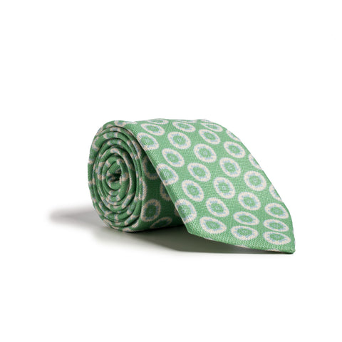 Q Clothier / Green and White Disc Print / Q Clothier