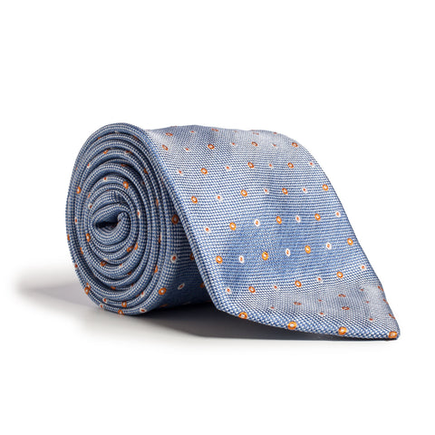 Q Clothier / Blue and Orange Circle Print / Q Clothier