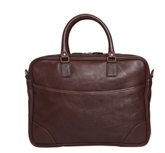 Moore & Giles / Moore and Giles Torrence Briefcase - Tuscany Chocolate / Q Clothier