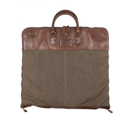Moore & Giles / Moore and Giles Gravely Garment Bag - Waxwear Rangertan / Q Clothier