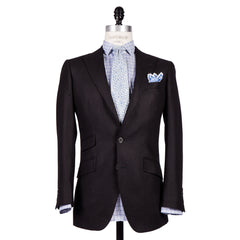 Q Clothier / The Marlon  - Black Silk/Wool Core Jacket / Q Clothier
