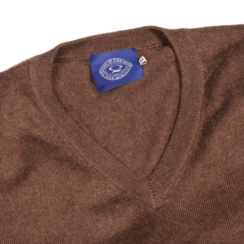 Brown Classic V-Neck