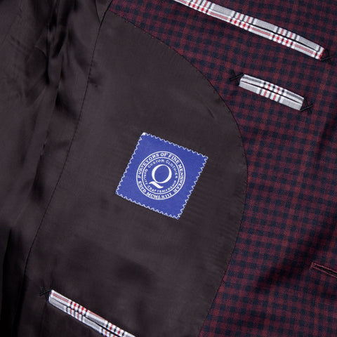 The Marlon  - Maroon Gingham