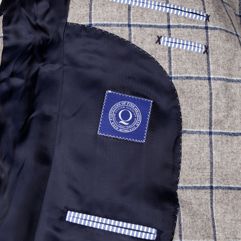 The Arnold - Heather Grey/Navy Windowpane