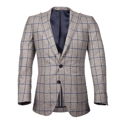 Q Clothier / The Arnold - Heather Grey/Navy Windowpane / Q Clothier