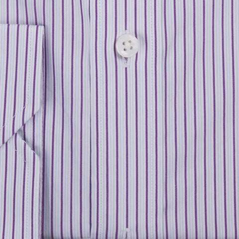 White with Purple Stripes