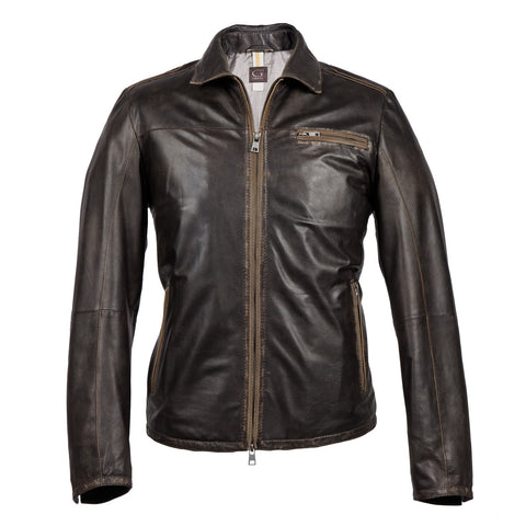 Gimos / Gimo's Lamb Skin Jacket - Distressed Brown / Q Clothier