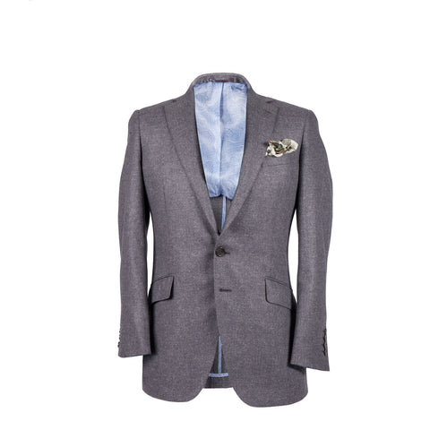 The Byron - Grey Silk/Wool Core Jacket