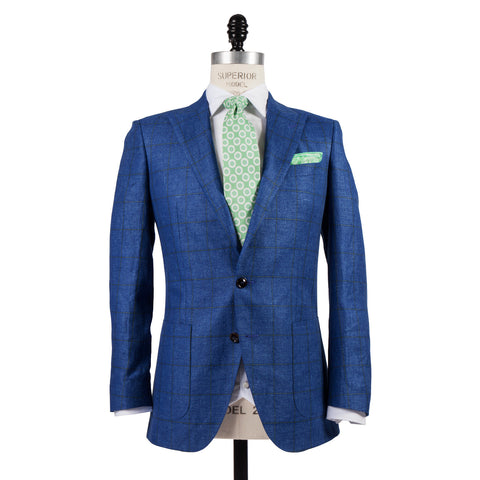 Q Clothier / The Arnold - Blue/Green Windowpane / Q Clothier