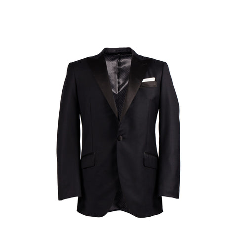The Alexander - Peak Lapel Black Tuxedo