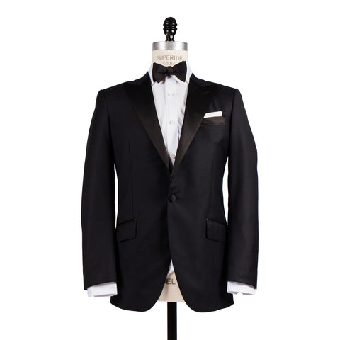 Q Clothier / The Alexander - Peak Lapel Black Tuxedo / Q Clothier