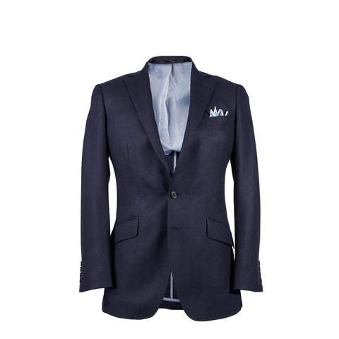 Q Clothier / The Byron - Navy Silk/Wool Core Jacket / Q Clothier