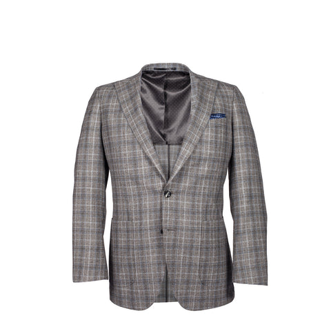 Q Clothier / The Arnold - Grey/Blue Glenplaid / Q Clothier