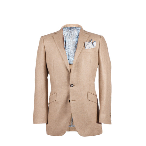The Byron - Camel Silk/Wool Core Jacket