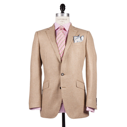 Q Clothier / The Byron - Camel Silk/Wool Core Jacket / Q Clothier