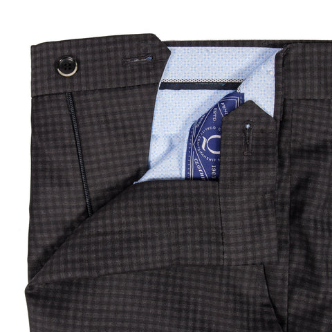 Q Clothier / The Matteo - Charcoal Check Trousers / Q Clothier