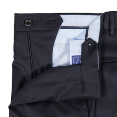 Q Clothier / The Matteo - Solid Navy Trousers / Q Clothier