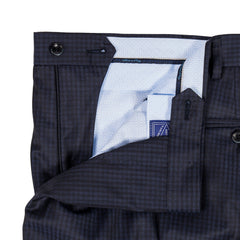 The Matteo - Navy Check Trousers