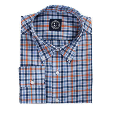 Orange & Navy Plaid