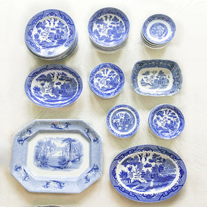 Blue and White Wall Plates