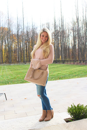 Blush Peplum Sleeves Two Ways