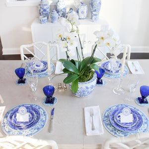 Blue and White Chinoiserie Table Top