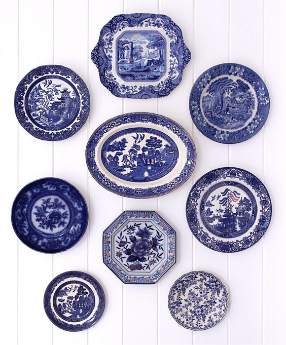 Blue And White Wall Plates Clagett