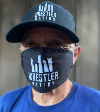 Black Mask w/ White Wrestler Nation Logo*
