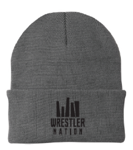 Oxford Greay Beanie w/ Black Logo