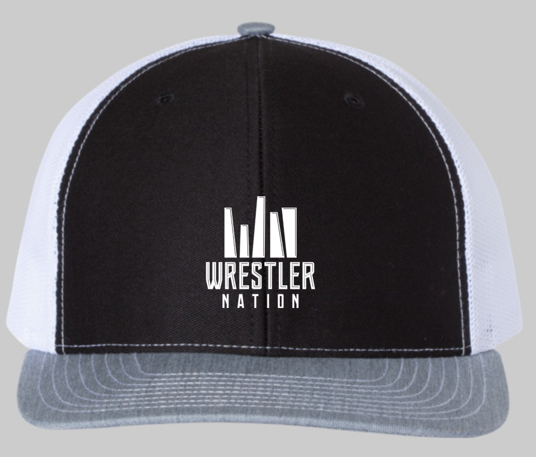 Black, Grey, White Trucker Hat