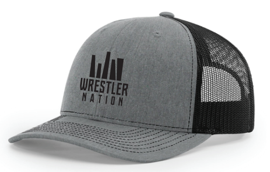 Grey Trucker Hat w/ Black Logo