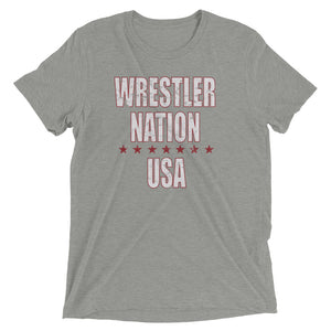 Women's Wrestler Nation USA Short Sleeve T-Shirt