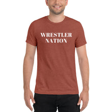 Load image into Gallery viewer, Soft Triblend Short Sleeve Wrestler Nation T-Shirt