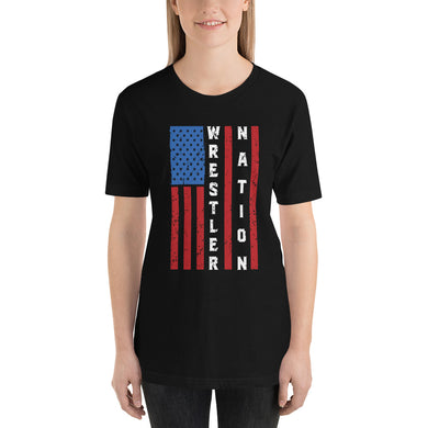 Women's Limited Edition Short-Sleeve 4th of July Wrestler Nation Unisex T-Shirt