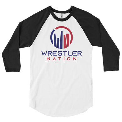 Baseball Shirt: 3/4 Sleeve Wrestler Nation Shirt