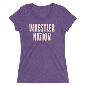 Women's/Ladies' Wrestler Nation Short Sleeve T-shirt