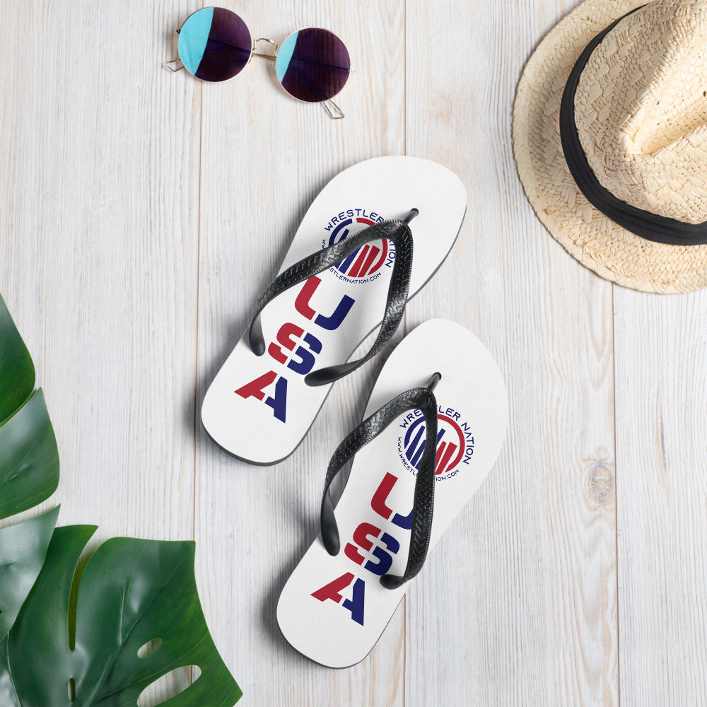 Wrestler Nation USA Flip-Flops
